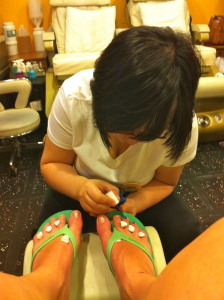 Make sure you find a legitimate nail technician.